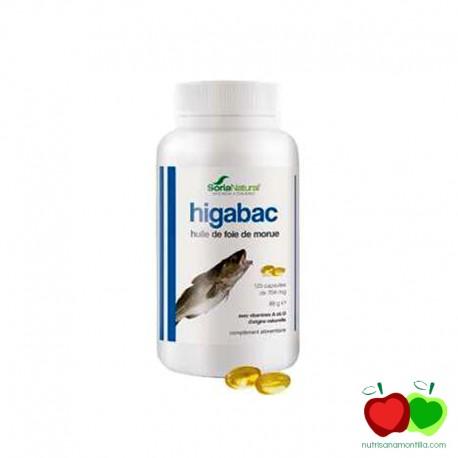 Perlas de aceite de hígado de bacalao Higabac Soria Natural