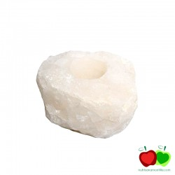 Portavelas cuarzo blanco cristal