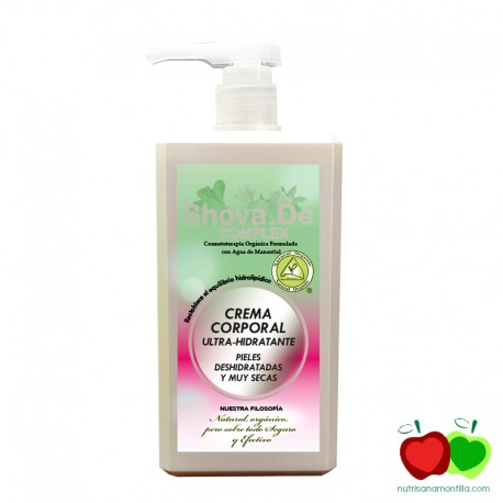 Crema corporal ultra hidratante con alholva y malvavisco Shova.De Complex